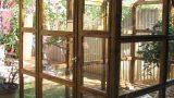 חממה מעץ וזכוכית